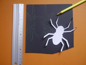 Windlicht Halloween Spinne 1