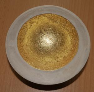 Betonschale mit Gold dekorieren - ausführliche Anleitung