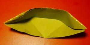 Teelichtglas Dekoration falten Origami Papier
