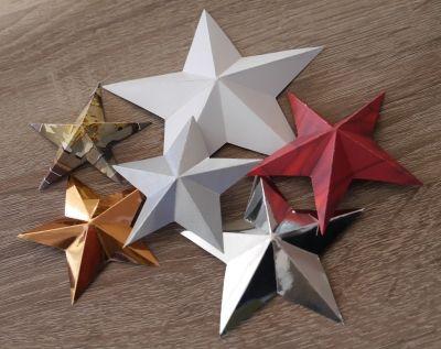 Einfacher 3D Stern für Kinder