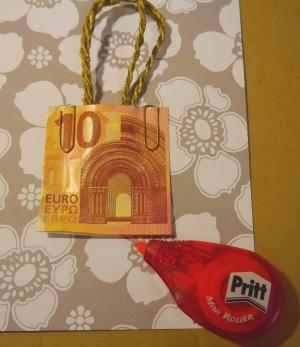 Geldscheintasche Geldschein basteln Geschenk simpel