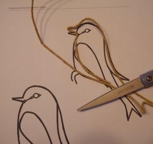 Papierkordel Vogel basteln Anleitung