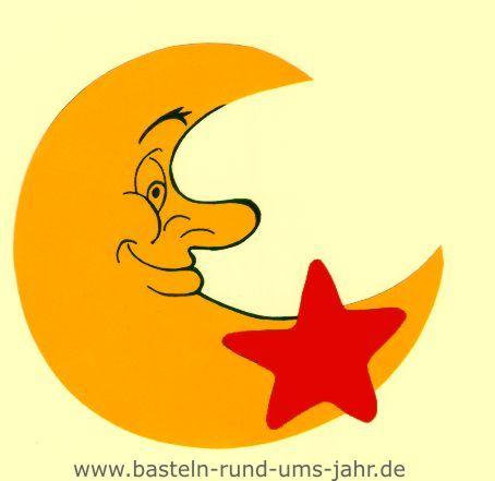 Motivvorlage Mond mit Stern