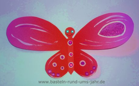 Schmetterling mit Glitzer