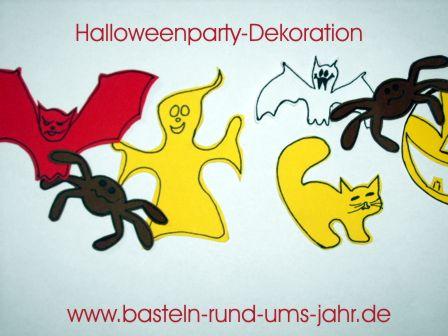 Motivvorlage Halloweendekoration mit Spinne und Katze