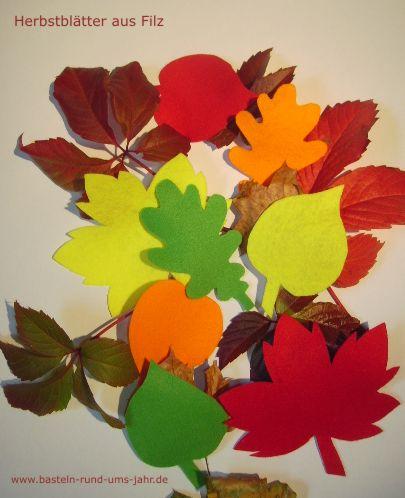 Herbstblätter aus Filz