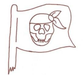 Malvorlage Piratenflagge