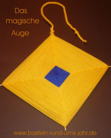 Magisches Auge in gelb blau