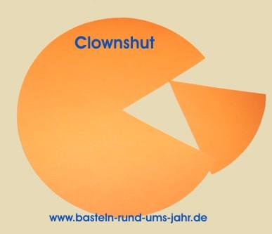 Hervorragend Clown Hut aus buntem Tonpapier – Basteln rund ums Jahr XI89