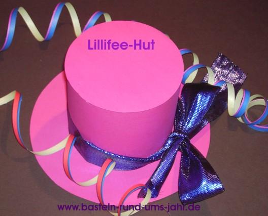 Lillifee Hut aus pinkem Tonpapier