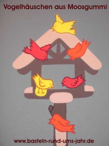 Vogelhäuschen aus Moosgummi