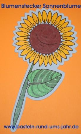 Blumenstecker Sonnenblume
