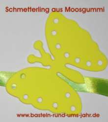 Schmetterlinge Moosgummi