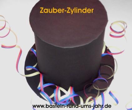 Zauberhut aus schwarzem Tonpapier