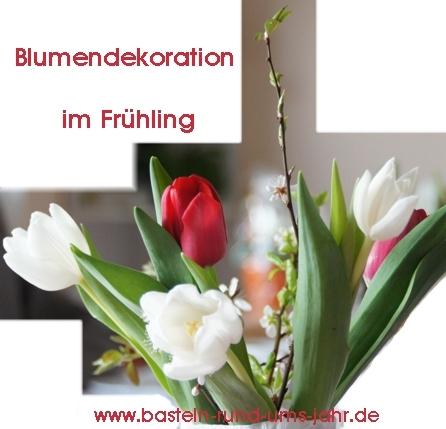 Blumendekoration Frühling