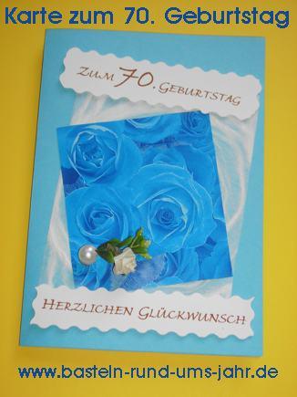 Karte zum 70. Geburtstag basteln