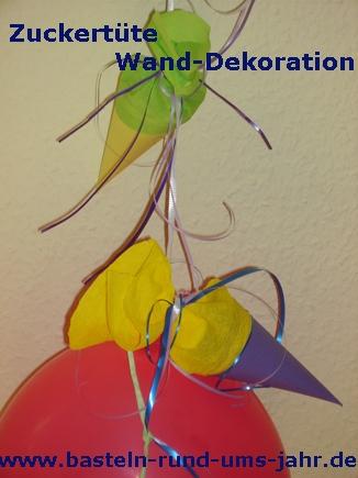 Zuckertüte als Wand – Dekoration