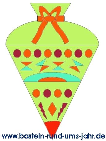 Ausmalbild Zuckertüte