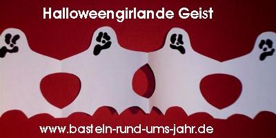Halloweengirlande Geist