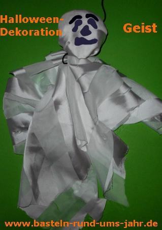 Schnelle Halloweendekoration Geist