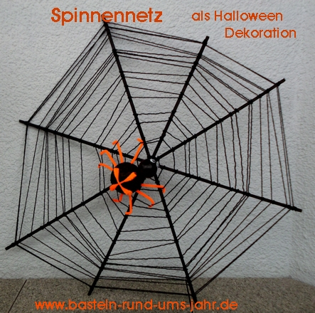 Spinnennetz als Halloween Dekoration
