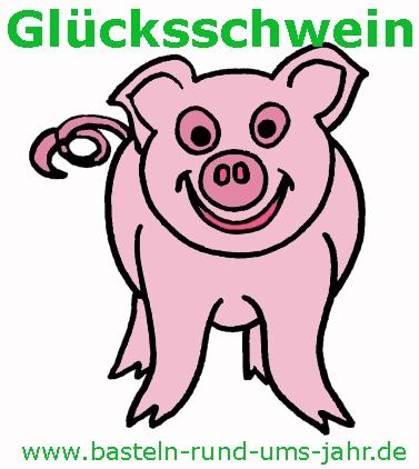 Die perfekte Vorlage für ein Glücksschwein. Als Ausmalbild zum Download.