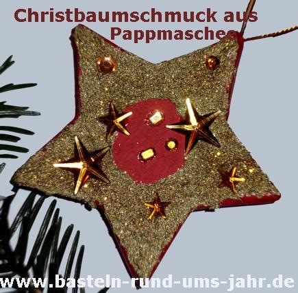 christbaumschmuck aus pappmaschee basteln rund ums jahr. Black Bedroom Furniture Sets. Home Design Ideas