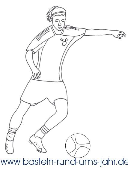 Ausmalbild Fußballspielerin Basteln Rund Ums Jahr