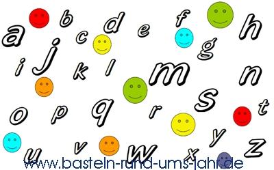 Malvorlage abc zum Schulanfang – die kleinen Buchstaben