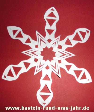 Scherenschnittstern Weihnachten mit Stern