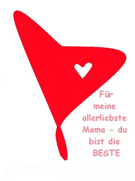 Karte zum Muttertag – Herz ausdrucken und fertig