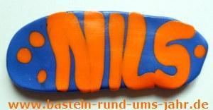 Türschild Kinderzimmer mit individuellem Namen Nils