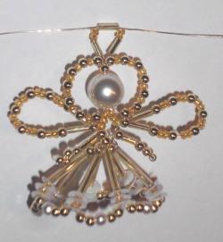 Perlenengel basteln