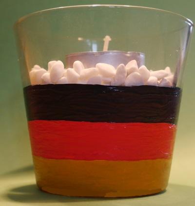 Teelicht Dekoration zur Fussball WM