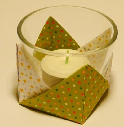 Origami Teelichthalter falten
