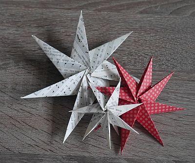 stern mit 8 spitzen zu weihnachten falten basteln rund. Black Bedroom Furniture Sets. Home Design Ideas