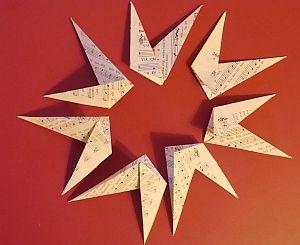 Turbo Stern mit 8 Spitzen zu Weihnachten falten mit Papiervarianten KU98