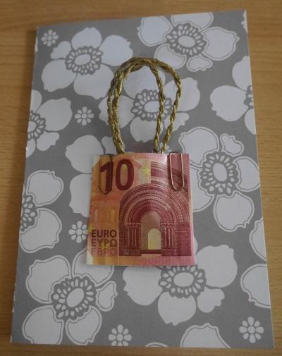 Geld verschenken, Geldscheintasche basteln – elegant und super einfach